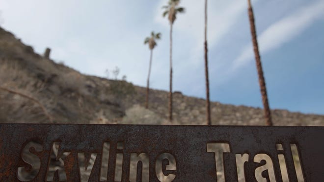 The Skyline Trail head is just behind the Palm Springs Art Museum in Palm Springs. It's among the most challenging hikes in the United States.