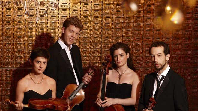The Ariel Quartet: Alexandra Kazovsky, violin; Jan Grüning, viola; Amit Even-Tov, cello and Gershon Gerchikov, violin