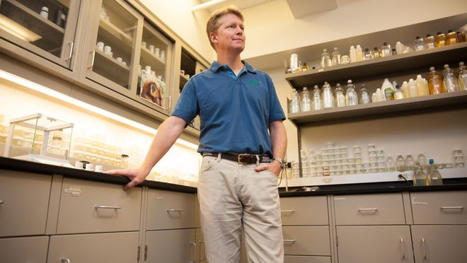 John Replogle, CEO of Seventh Generation, stands in the company's Burlington headquarters. Replogle took over in 2011.