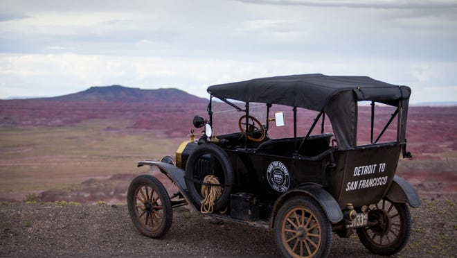 The model T in the Painted Desert, Arizona