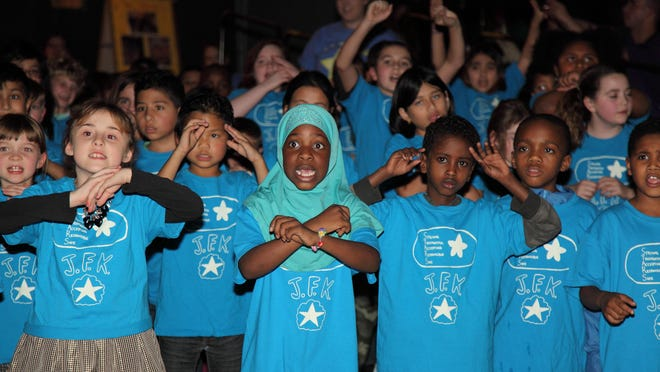 Students from John F. Kennedy School in Winooski perform their annual winter performance.