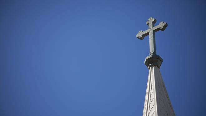 Church Steeple and Cross For online church religion