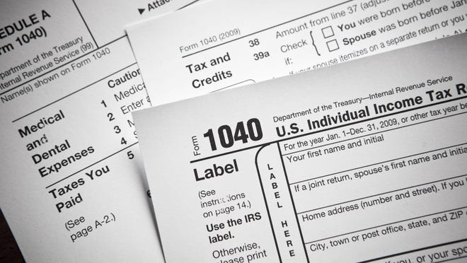 Income tax numbers at the accountants office