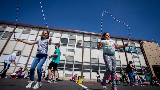 Merriam Avenue School in Newton on April 17, 2019.