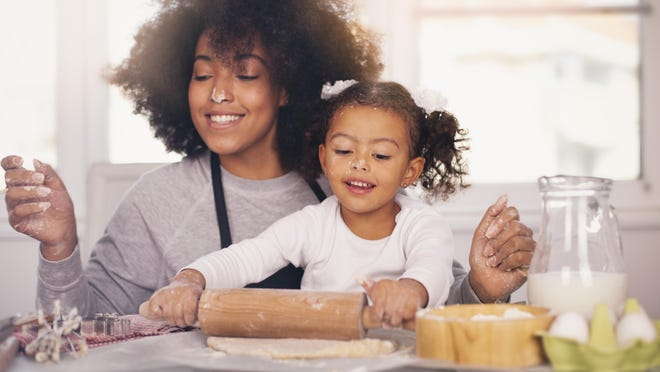 The recipes you choose to have the children make should be appropriate for the age and experience of the child. Baked goods are always a hit - quick breads, muffins, scones, pancake/waffle batter, soft pretzels or other yeast breads/rolls.