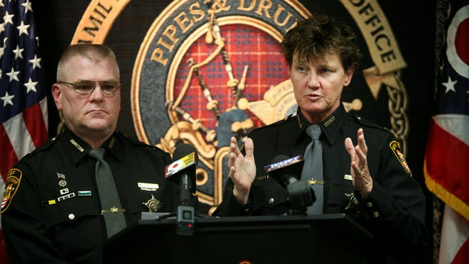 Hamilton County Sheriff Chief Deputy Mark Schoonover and Major Charmaine McGuffey discuss the heroin overdose death of inmate Daniel Davis in 2014. McGuffey is now suing the sheriff's department over the loss of her position running the Hamilton County Jail.