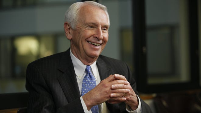 Gov. Steve Beshear, D-Ky., is interviewed by Susan Page for USA TODAY's Capital Download in Washington last February.