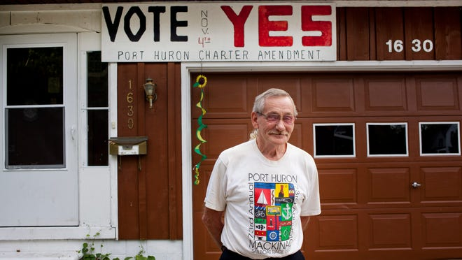Jim Wilmoth, 67, of Port Huron, supports the Nov. 4 ballot proposal to decriminalize small amounts of marijuana for adults.