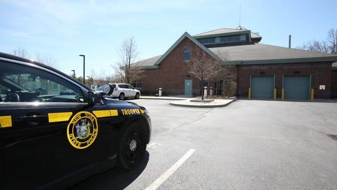 The New York State Police bar racks in Hawthorne.