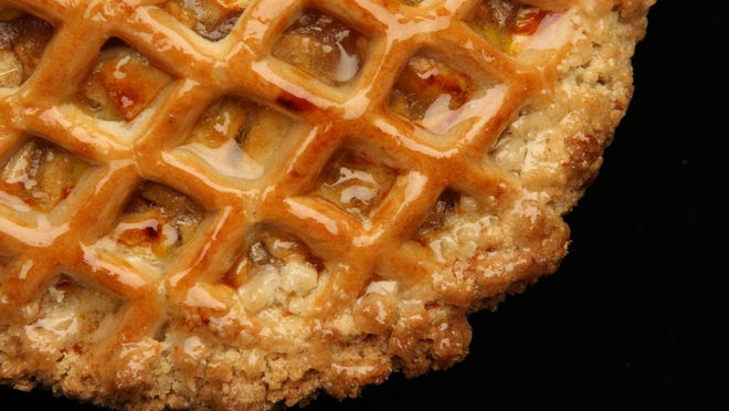 Apple lattice pie from Martine's Fine Bake Shoppe.