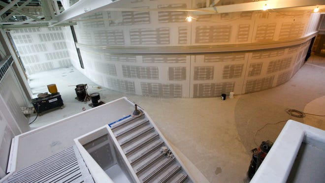A view inside the Phase II building at UD's STAR Campus on Del. 896. The building is to house 10,000 square fee of space for wet labs, developer Ernie Delle Donne said Monday.