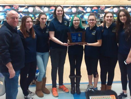 Ramsey girls bowling North Group 1 champion