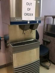 The Michigan Nurses Association says several ice machines at St. Lawrence had signs on them prohibiting their use. This photo was taken by a staff member at 5:15 p.m. Wednesday, Nov. 1, 2017, a spokesperson said.
