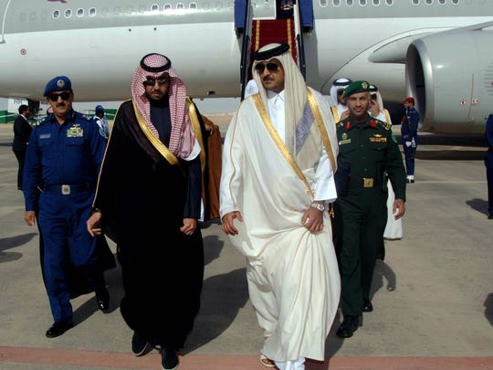 Qatar's Emir Sheikh Tamim bin Hamad al-Thani arrives