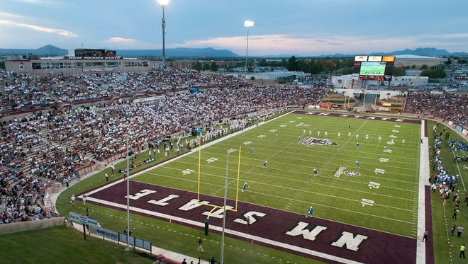 The Aggies Stuff the Stadium promotion posted an official attendance of 27,201 in 2015. NMSU's 2017 home opener against Troy will also be a Stuff the Stadium game.