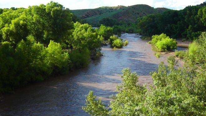 The Gila River.