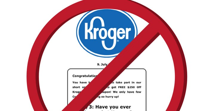 Kroger warns customers of coupon scam.