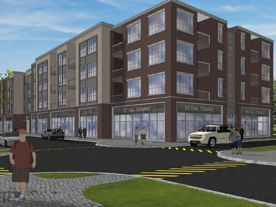A rendering of CityGate's proposed Building 14, a 300-unit