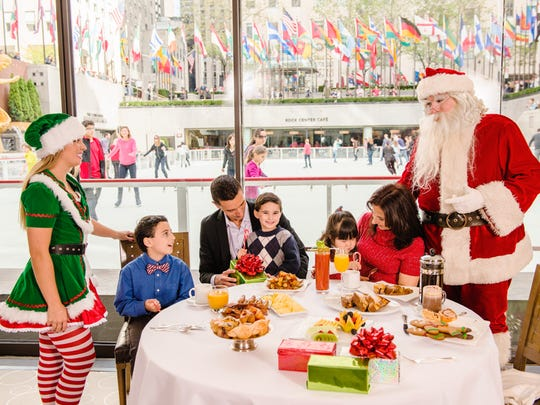 After a hearty breakfast with Santa, you can skate at Rockefeller Center.