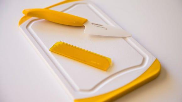 Kyocera Mini-prep Knife+Bar Board Set Robin Miller's favorite summer kitchen gadget, Kyocera mini-prep knife+bar board set, from her home in Scottsdale, Ariz. April 26, 2017.