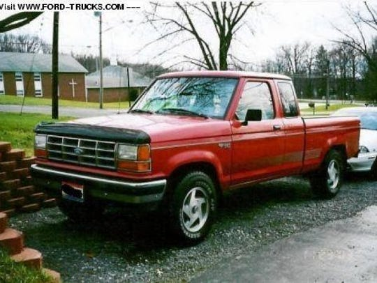 Kelly J. Smith is drives a maroon 1991 Ford Ranger