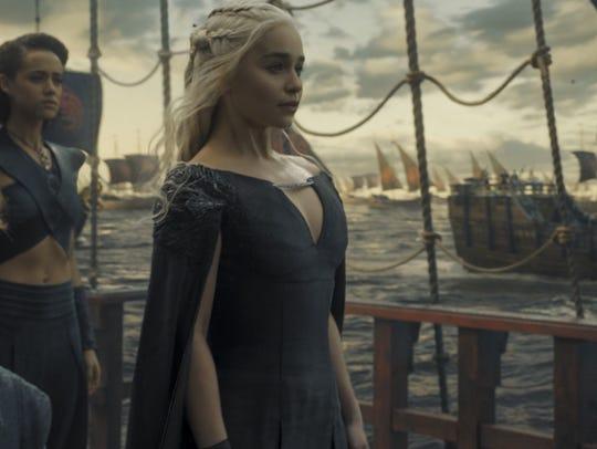 Peter Dinklage as Tyrion, Nathalie Emmanuel as Missandei
