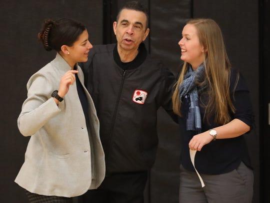 Horace Greeley girls basketball coach Sarah Schum,