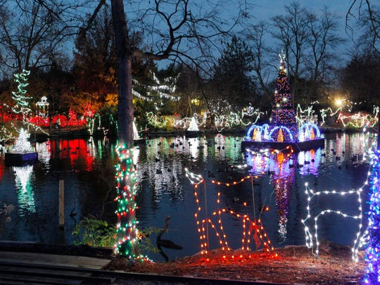 Festival of Lights at the Cincinnati Zoo and Botanical Gardens.
