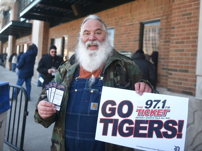 Tim Nemeth, of Livonia, was first in line to buy Detroit