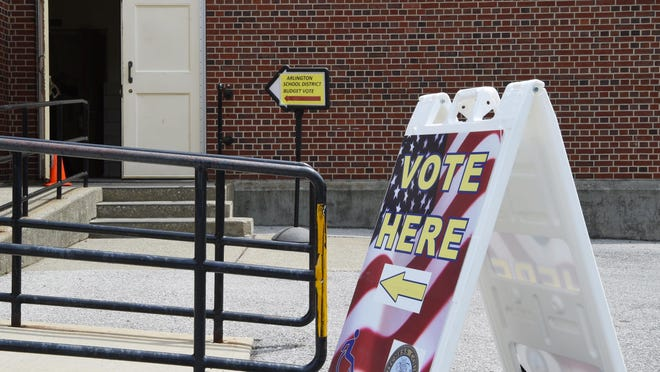 The polling location for Arlington Central School District at the Arthur S. May School in the Town of Poughkeepsie on Tuesday.