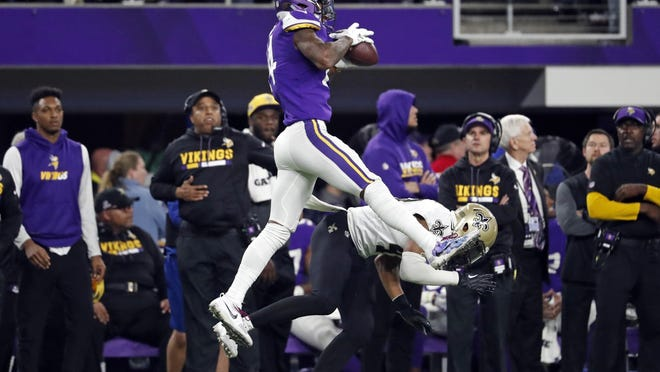"""The last time these teams met in the playoffs two seasons ago, the Vikings won 29-24 thanks to the """"Minneapolis Miracle,"""" the 61-yard touchdown reception by Stefon Diggs on the final play."""