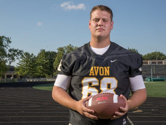 DJ Bowles, offensive guard, Avon High School, part