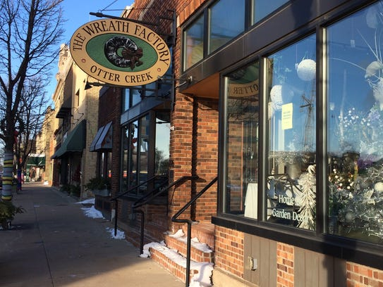 The Wreath Factory/Otter Creek has three storefronts
