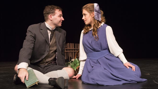 "Colin Roth and Katie Leenig star in the Binghamton University production of ""Spring Awakening."""