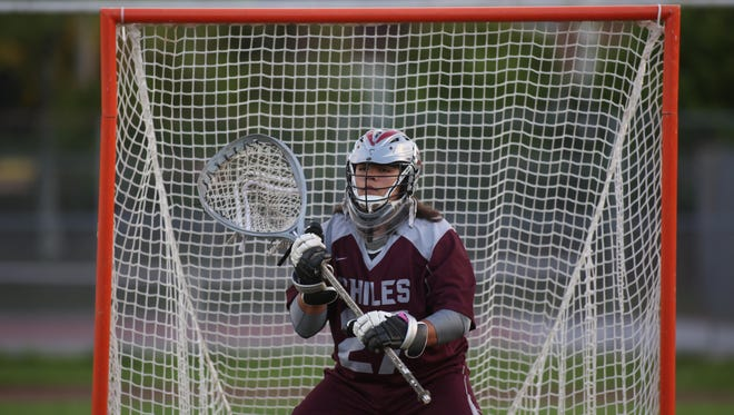 Chiles junior Zeke Joiner warms up in goal prior to a game against Leon. Joiner earned honorable mention All-Big Bend honors as a sophomore, recording 90 saves over the course of the Timberwolves' 11-5 season.