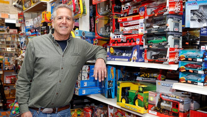 "Greg Choron, owner of Merry-Go-Round toy, is closing the store, a mainstay in downtown New Rochelle for 65 years. ""People loved that we and other local businesses from their childhoods were still around and thriving. They told me, 'Thank God you're here; don't ever close.'"""