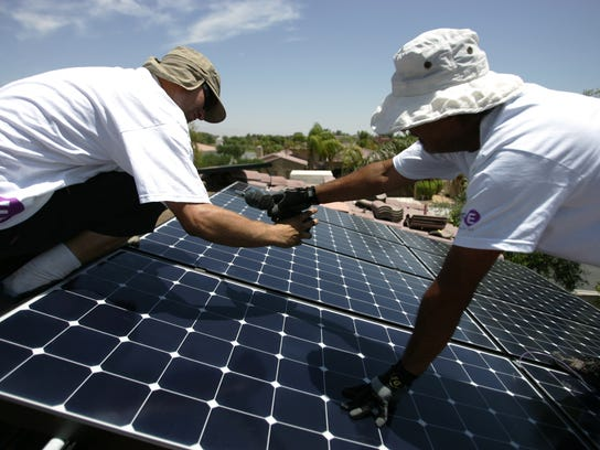 Solar panel installers with Hot Purple Energy (Paul