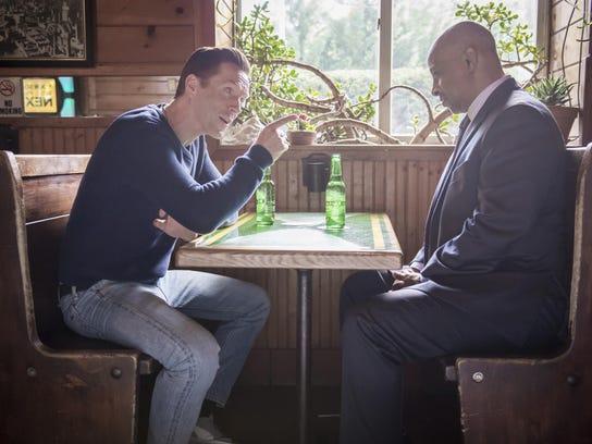 """Damian Lewis as Bobby """"Axe"""" Axelrod and Ruben Santiago-Hudson"""