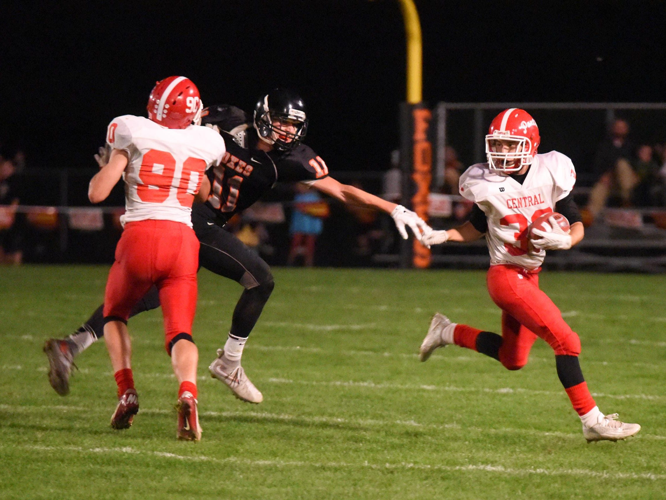 On Oct. 16 Silverton and Central high schools battled in Silverton to a 34-21 victory for the Panthers.