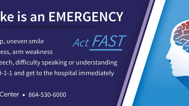 Act FAST if stroke symptoms occur.