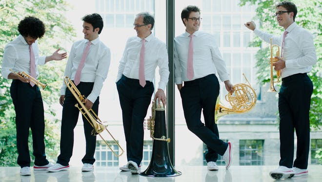 Do you suppose Canadian Brass actually planned to wear pink ties and identical tennis shoes, or was that just a coincidence?