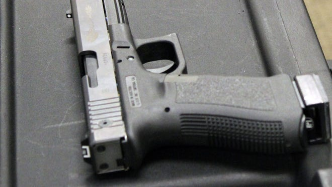 This is one of the handguns police can use with a new training simulator package.