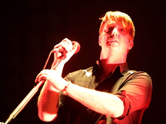 Queens of the Stone Age perform on the Coachella Stage on Saturday, April 12, 2014 during the first weekend of the Coachella Valley Music and Arts Festival in Indio, CA.