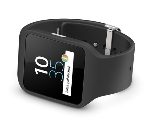 The Sony SmartWatch 3 has built-in GPS. At least three running apps — iFit Outside, RunKeeper and My Tracks — use the watch's GPS and work without a companion phone.