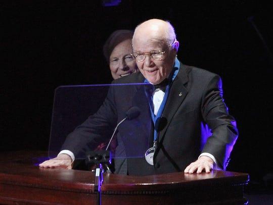 Former U.S. Senator John Glenn attends the 109th Explorers