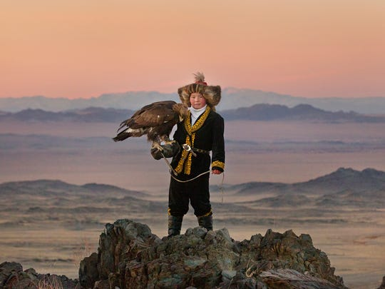 "This image released by Sony Pictures Classics shows Aisholpan in a scene from ""The Eagle Huntress,"" a documentary about a 13-year-old girl who trains to become an eagle hunter. It will be screened as part of Teatown's Eaglefest."