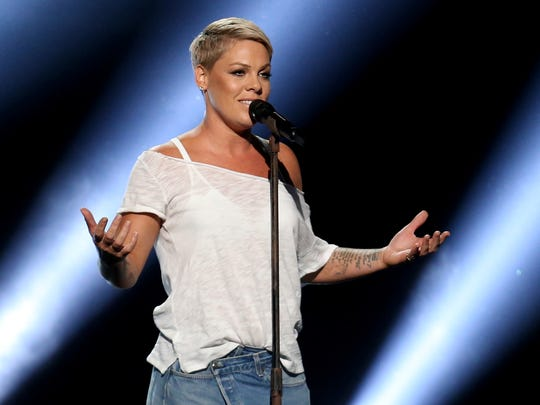 Pink will perform on April 14 at the Prudential Center in Newark.
