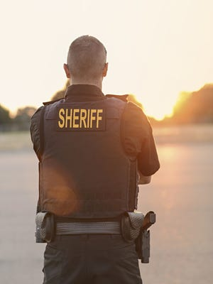 Sheriff Police Officer, stock image