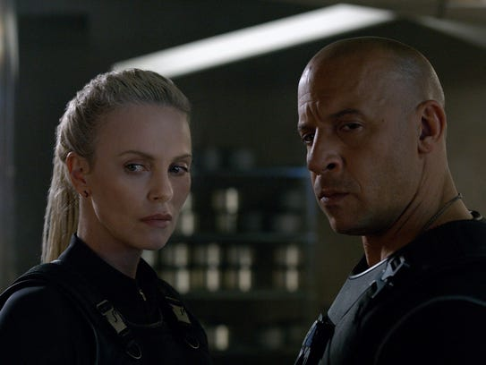 Charlize Theron and Vin Diesel have their game faces