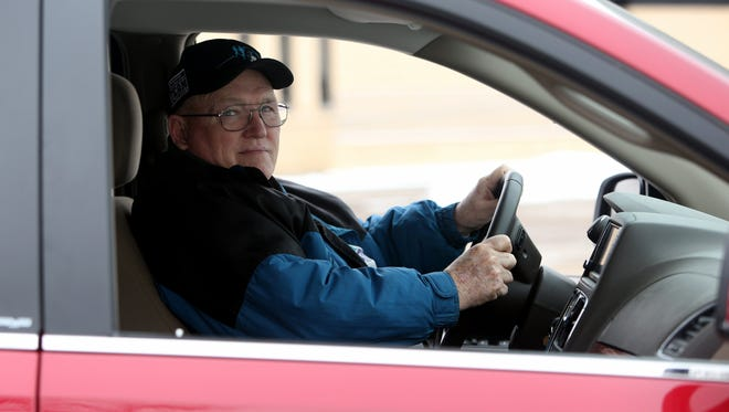 Jim Bassett of Roseville, Mich., is in his 70s and he still drives himself around.